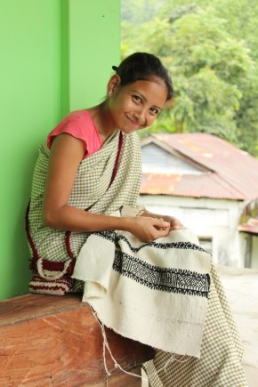 Skills transfer of Khneng Embroidery to the young generation