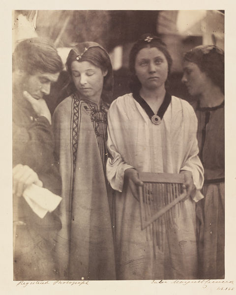 'Saint Cecilia after the manner of Raphael' by Julia Margaret Cameron. Photograph, 1864-5. Museum no. 45155. ©Victoria and Albert Museum, London
