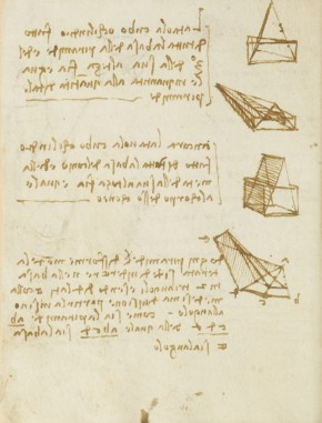 Leonardo da Vinci, Forster Codex, Volume I, 16v, 1505. Museum no. F.141 Volume I V16 (Forster)