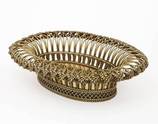 Silver-gilt basket, London, 1797-8. Height 13.5 cm. Museum no. LOAN:Gilbert.735-2008