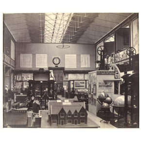 Interior view of the Educational Museum South Kensington Museum (The Brompton Boilers) c 1859