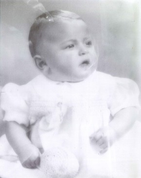 Photograph of Arthur Gilbert as a baby. The Rosalinde and Arthur Gilbert Collection on loan to the V&A.