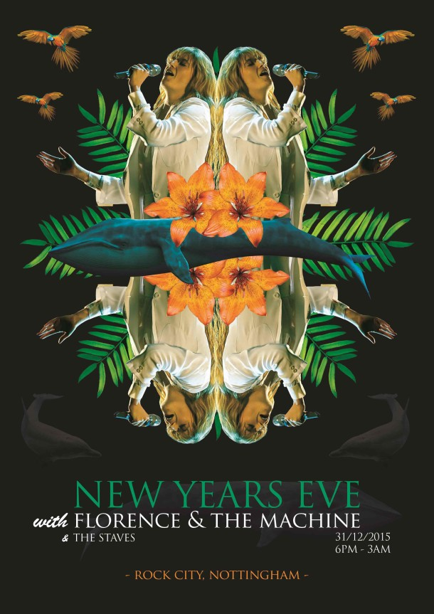 Florence and the Machine gig poster by Nic Gordon © Victoria and Albert Museum, London
