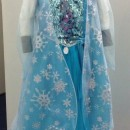 Dress, inspired by the Disney character, 'Elsa', the Snow Queen from the animated film 'Frozen', 2015. Museum No. B.50-2015.
