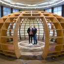 THe Globe - European Gallery's - This installation by the Cuban art collective Los Carpinteros (The Carpenters) is a response to the theme of the Enlightenment. 26th June 2015