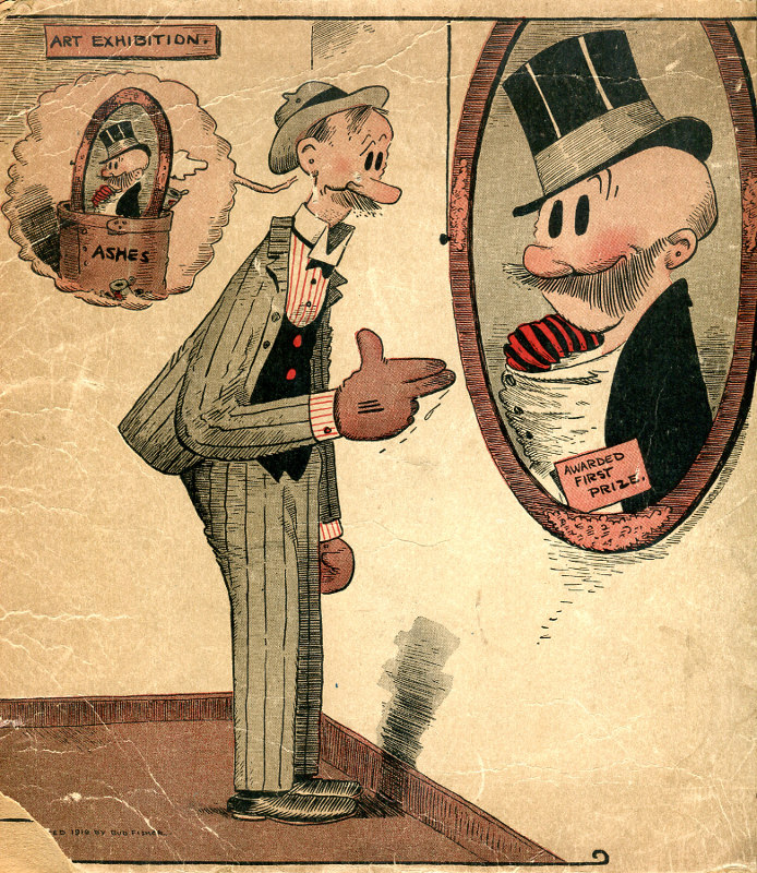 Mutt and Jeff by Bud Fisher, the first comics millionaire.