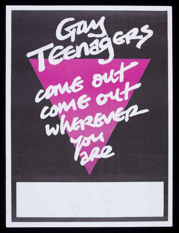 Poster issued by the Tyneside Gay Teenagers Group, with support from the National Association of Youth Clubs (NAYC). V&A E.785-2004