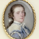 Portrait miniature, enamel on copper, London. Mounted into a carved ivory snuffbox. Inscription on the rim of the box: John the 1st Earl of Spencer. painted by Jean Etienne Liotard.   Museum no. LOAN:GILBERT.408-2008