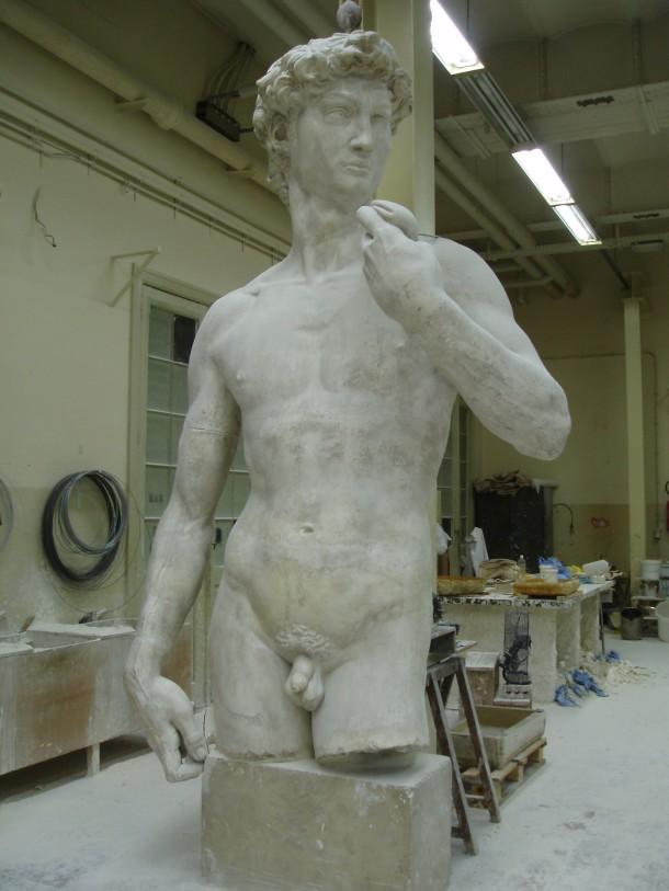 David in the Brussels plaster cast workshop ©KMKG-MRAH, Brussels