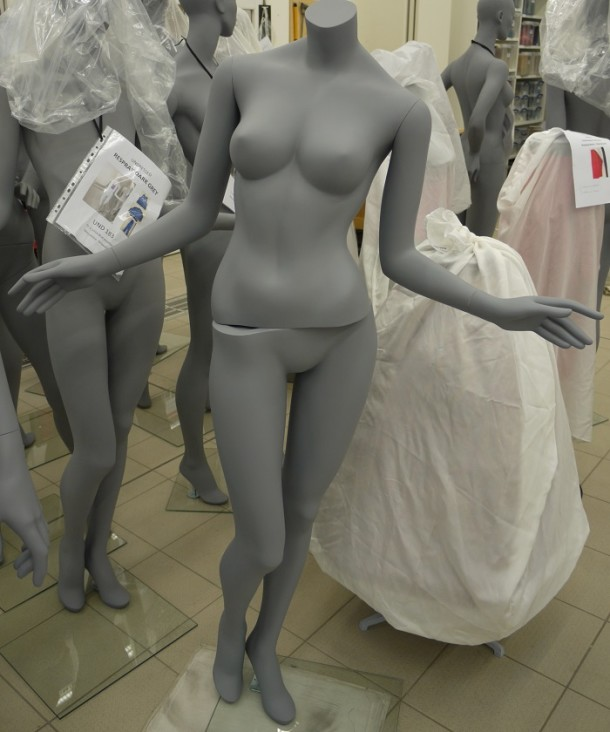 Fibreglass figure doing the twist