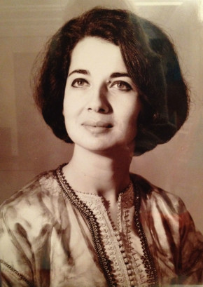 Portrait of Naima Bennis, 1960s, from a photograph in the collection of her daughter, Mouna Lotfi © Angela Jansen