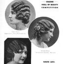 Winners of a Eugène Waver hairdressing competition.