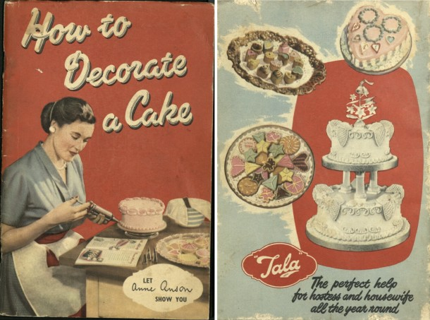 """Front and back cover of """"How to Decorate a Cake, let Anne Anson show you"""" [195-?]"""