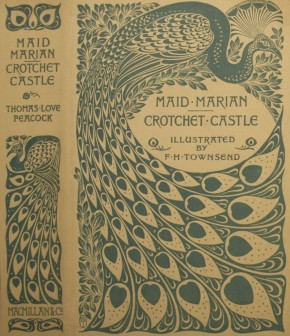 A.A. Turbayne. Dust jacket for Maid Marian and Crotchet Castle by Thomas Love Peacock. E.3223-1921. ©Victoria & Albert Museum, London