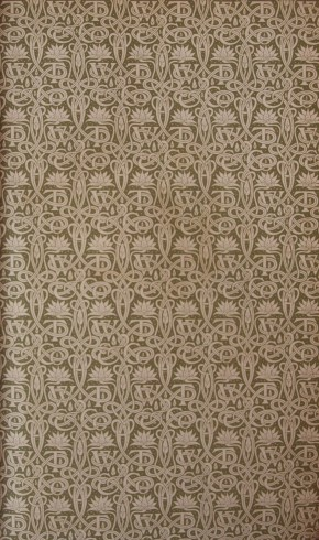 A.A. Turbayne. Endpaper for The cave dwellers of southern Tunisia, translated from the Danish of Daniel Bruun by L.A.E.B. Book, published London: W. Thacker & Co., 1898. NAL: 952-1898. ©Victoria & Albert Museum, London