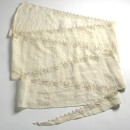 Copyright Victoria and Albert Museum. Swaddling band, Italian, white linen, trimmed with whitework, ca. 1590-1600