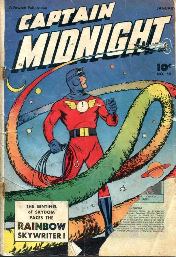 Captain Midnight # 59, 1948 © Fawcett Publ. Inc.