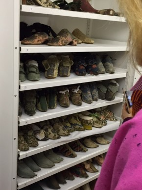 A peek at shoes in storage. I think maybe I heard the most audible gasps when these doors were opened. © Sarah Hall