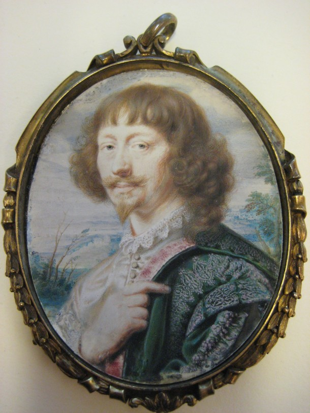 Endymion Porter (1587–1649),John Hoskins , 1630, Bequest of Mary Clark Thompson, 1923. Accession Number:24.80.505. © The Metropolitan Museum of Art. Photography Victoria Button. Cover glass removed.