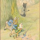 Unfinished illustration for The Tale of Kitty-in-Boots, 1914. © Victoria and Albert Museum, London, with kind permission from the owner