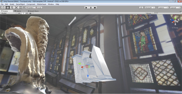 Creating the VR environment in Unity with 360 photos and 3D scans of sculptures © Victoria and Albert Museum, London