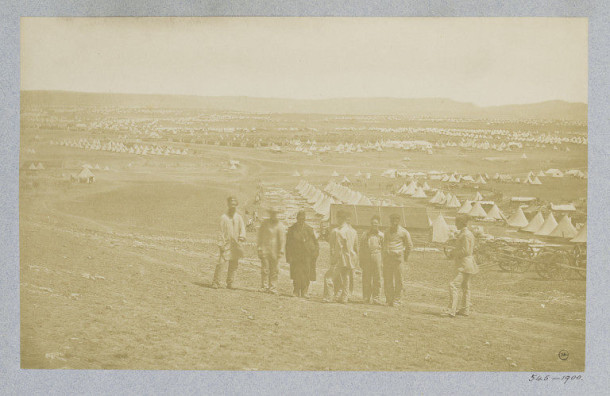 Photograph of a British military camp in Balaklava by James Robertson, c.1855. Museum no. PH.545-1900. ©Victoria and Albert Museum