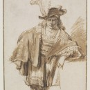 "Attributed to Gerbrand van den Eeckhout (1621-1674), ""Man in a Plumed Hat"", Museum no. Dyce.422 ©Victoria and Albert Museum"