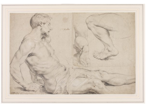 "Peter Paul Rubens (1577-1640), ""Study of a Man"", c.1617-18, Museum no. D.904 & 905 -1900, ©Victoria and Albert Museum"