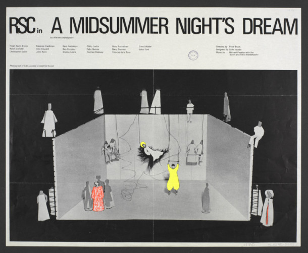 Tour poster advertising a tour by the Royal Shakespeare Company performing A Midsummer Night's Dream, 1970 1970
