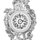 A Royal mantel clock, Eileen Budd, 2016, London | Eileen Budd