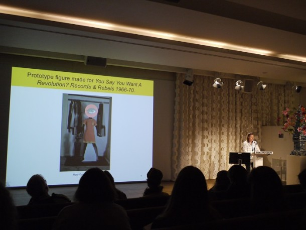 Lara Flecker speaks at the Rijksmuseum conference