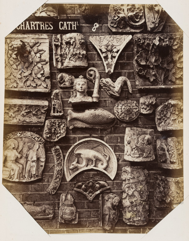 Bedford Lemere Specimens from the cast collection of the Royal Architectural Museum, details from Chartres Cathedral c. 1872 albumen print museum no. E.663:9-2016 ©Victoria and Albert Museum