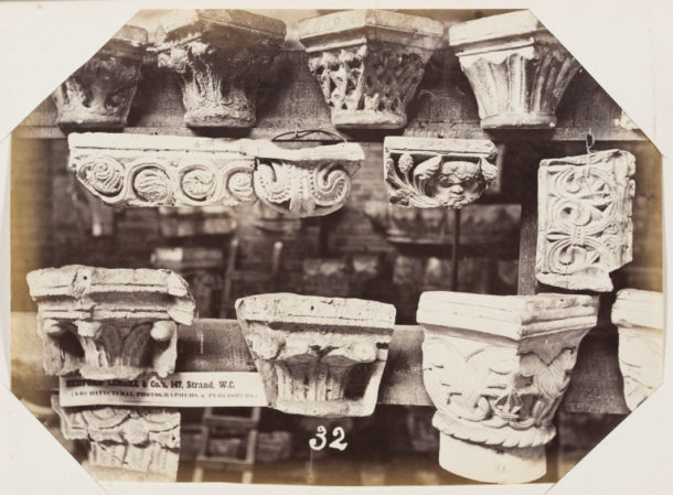 Bedford Lemere Capitals from the cast collection of the Royal Architectural Museum, c. 1872 albumen print museum no. E.663:33-2016 ©Victoria and Albert Museum