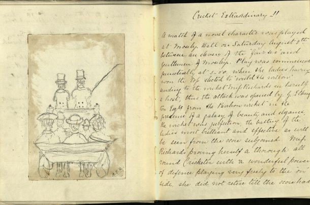 Description of a cricket match, AAD/1998/6/10 © Victoria and Albert Museum, London