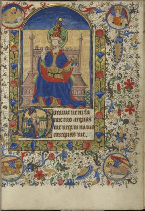 MSL/1902/1650 folio 77 r, Book of Hours, France, ca. 1440-1450. © V&A Museum