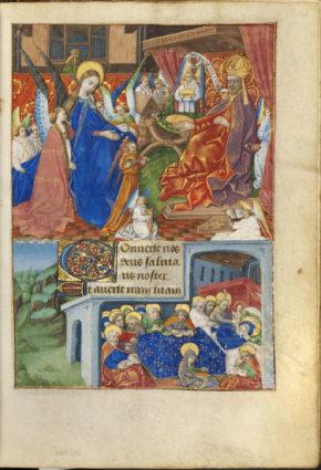 MSL/1910/2385 folio 92 r, Book of Hours (the Margaret de Foix Hours), France, ca. 1470.