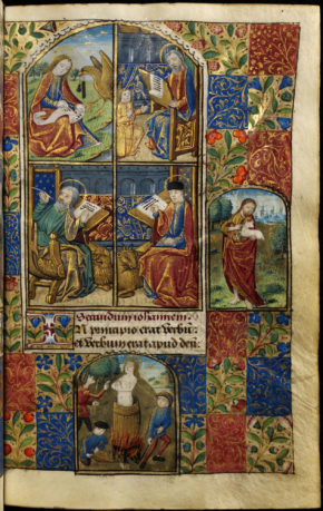 MSL/1918/475 folio 13 r, Book of Hours (the Playfair Hours), France, 1480s. © V&A Museum