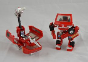 Ironhide, the Autobots' second in command, shown transformed with his 'battle sled'. Museum no. B.105-1994, Copyright Victoria and Albert Museum, London