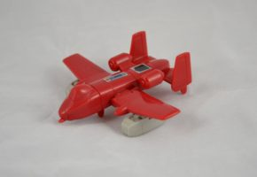Powerglide, an Autobot 'mini-vehicle', a sub-set of smaller, simpler and cheaper toys. Museum no. B.106-1994. Copyright Victoria and Albert Museum, London