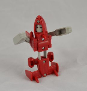 Powerglide was written to be a very self-confident robot, once cast in a Hollywood movie. He was also the only Transformer known to have a human girlfriend. Copyright Victoria and Albert Museum, London
