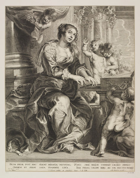 St. Cecilia, print by Schelte Bolswert after Rubens