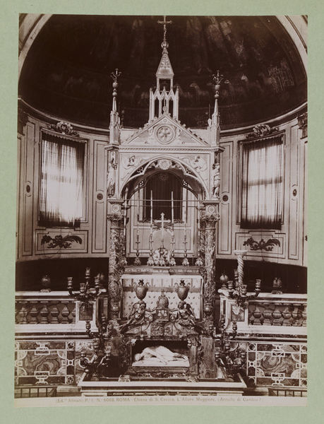 High Altar of the Church of S. Cecilia, Rome
