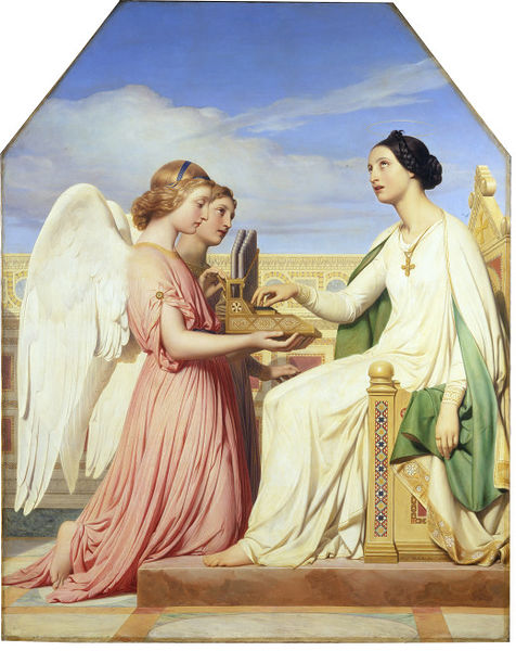 St Cecilia and the Angels, by Paul Delaroche
