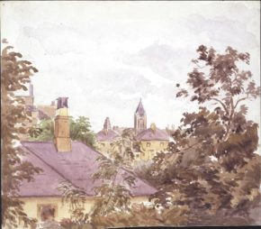View from 2 Bolton Gardens, Beatrix Potter's London home