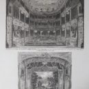 The stage and proscenium arch at the Royalty Theatre, 1815, drawn by R. Howlett