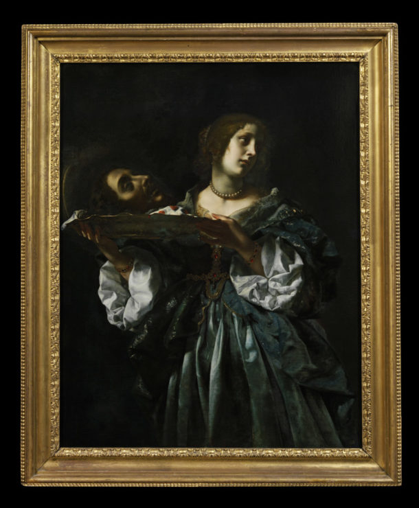 Oil painting depicting 'Salome (or Herodias) with the Head of John the Baptist' by Carlo Dolci. Italy, ca. 1665-1670.