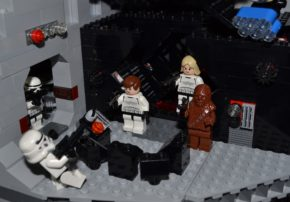 Han, Luke and Chewie rescue Princess Leia from the Death Star's cell block © Victoria and Albert Museum, London