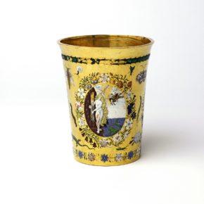 Loan:Gilbert.28-2008 Beaker Gold and enamel beaker, Europe, 1600-25. Europe 1600-1625 Gold and enamel