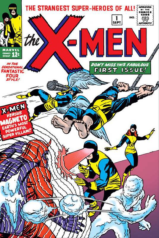 X-Men Number 1. © Marvel comics, 1963.