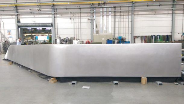 Image of balustrade in progress